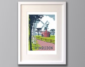 Wimbledon Common - A3 Screen Print - Limited Edition - FRAMED