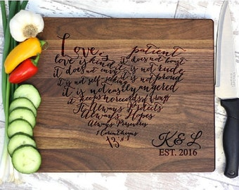 Cutting Board, Engraved Cutting Board, Monogram Cutting Board, Wedding Gift, Housewarming Gift, Anniversary Gift, Engagement
