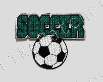Soccer New Sew / Iron On Patch Embroidered Applique Patches Size 6.8x8.5cm.