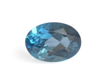 London Blue Topaz Loose Gemstone Oval Cut 1A Quality 7x5mm TGW 0.90 cts.