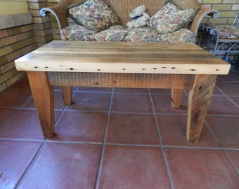 Reclaimed Wood Coffee Table  100 year old pine