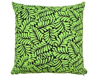 18 x 18 Green Madura batik cushion cover pillow case