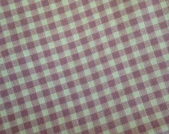 "45""x54"" Vintage Gingham Purple/ Pink Cotton Fabric"