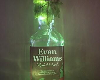 Evan Williams Apple Orchard light up bottle