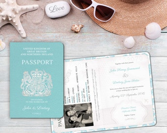 Passport Wedding Invitations gangcraftnet