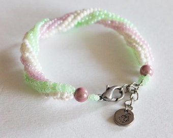 Bracelet for girl spiral rope with 3 colors Little Princess