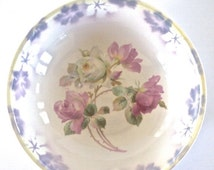 SUMMER CLEARANCE Large Three Crown China Serving Bowl with Pink Roses