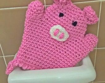 Piggy Bath Mitt