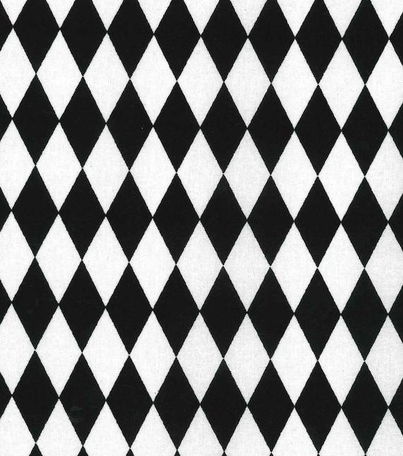 Diamond fabric baby fabric kids fabric black white for Black and white childrens fabric