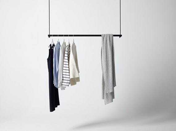 Hanging Clothing Rack By Georgeandwilly On Etsy