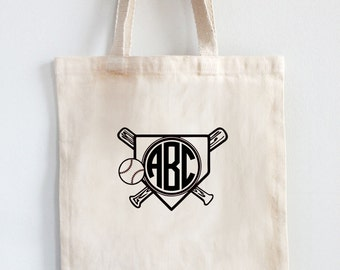 Personalized  Tote - Monogrammed Tote - Baseball Tote - Sport Tote - Custom Tote - Medium Tote - Natural Cotton Tote  FREE SHIPPING