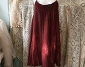 Rawrags red cotton dress , a shape dress , hand dyed red dress , red dress for everyday , sexy red dress