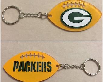 Green Bay Packers Football Acrylic Keychain