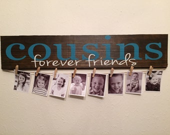 Cousins wall hanging on Distressed wood