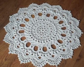 rug crochet handmade lacy doily rope area rug cotton bathroom rug round kitchen rug bedroom rug