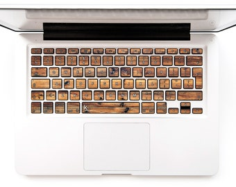 Wooden keyboard macbook decal macbook pro sticker stickers macbook keyboard macbook decals sticker apple # dark wood