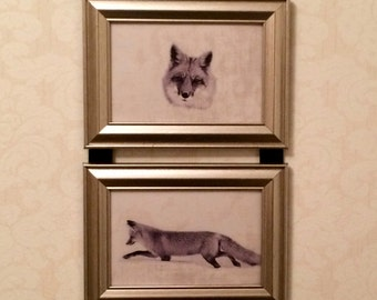 Red Fox Picture Frame Collage Hanging Wall Art Decor