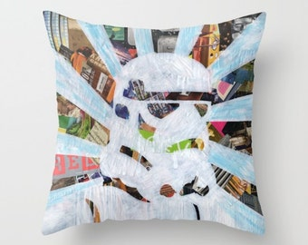 Star Wars Home decor, Pillow COVER, Storm Trooper Decorative Pillow cover, Home accents, Colorful Pillows for Couch, Indoor OR Outdoor