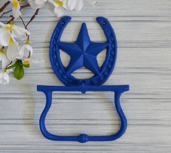 Bathroom Decor Featuring Horseshoes : Items similar to horseshoe towel ring westen holder