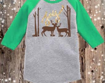 Christmas Deer Raglan