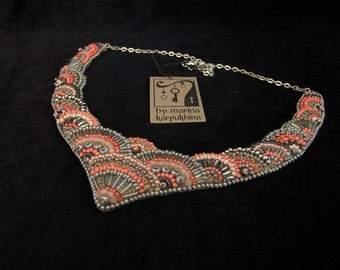 Necklace Strawberry Ice and Steel Gray