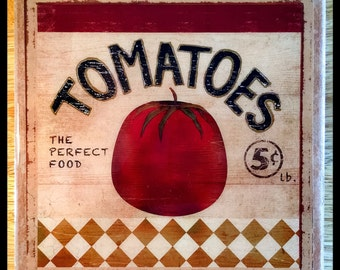 "8"" x 8"" Tomatoes Decorative Ceramic Tile - Home Decor"
