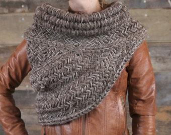 Katniss Inspired Cowl, Vest, Scarf, Shawl - Barley/Clay Color