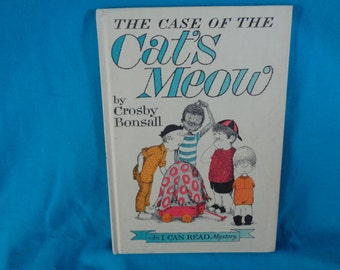 vintage 1965 The Case of the Cat's Meow An I Can Read Mystery book by Crosby Bonsall