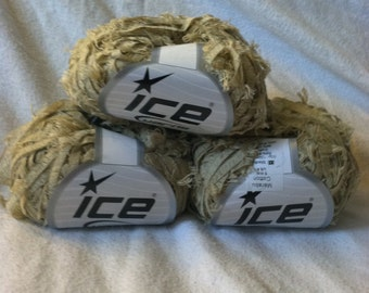 Ice Yarns Destash Lot of 3 tan