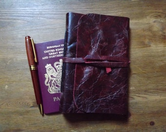 Leather Diary/ Organiser/ Dark Red A6