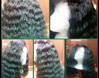 100% virgin  lace front wig in various lengths and texture