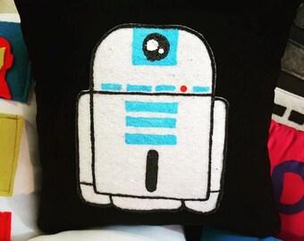 R2D2 Pillow Star Wars Handmade