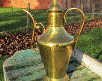 Vintage Large Brass Kettle Coffee Tea Pot Pitcher