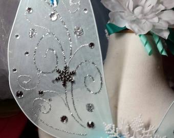 Periwinkle Fairy wings, Tinkerbell fairy wings,custom hand made  fairy wings, snowflake fairy wings