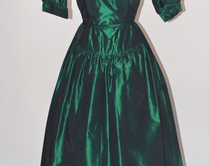 Vintage Estate Lanz Originals Emerald Green Dress