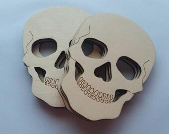 Laser Cut Wooden Skull Cut Outs