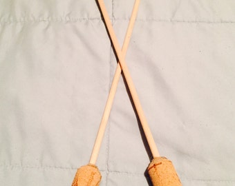 Wooden knitting needles - size 5.5 / 9mm