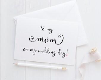 Wedding Card For Mom. Mom Card. To My Mom Card. Mom Wedding Card. Mom Of The Bride. Mom Of The Groom. Mom Wedding Gift. Cards For Wedding.