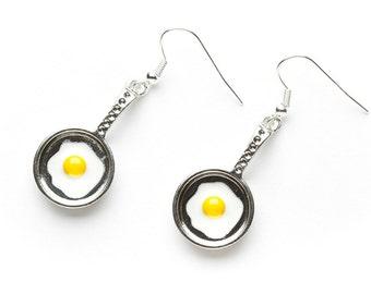 Fried Egg Earrings | Fried Egg Charm Earrings | Food Charm Earrings