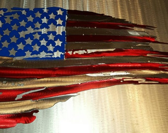 "Weathered/Tattered American Flag, ""MADE TO ORDER"""
