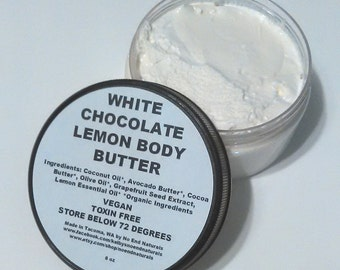 Organic Luxurious White Chocolate Lemon Body Butter
