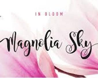 Magnolia Sky Applique Font for Embroidery Machine Instant Digital Download