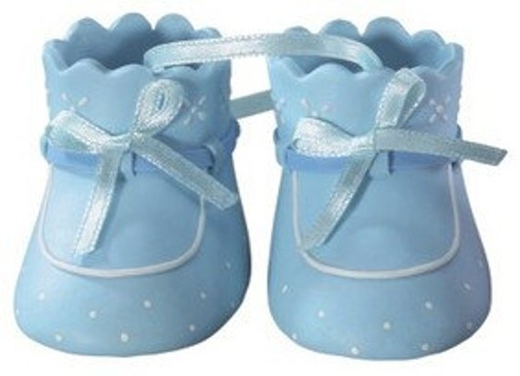Blue Baby Booties Cake Topper/ Baby Shower Cake Topper/ Blue