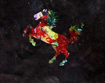 Horse Watercolour - Original Graphic Art Print - Photo Poster Gift