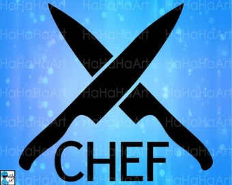 Knifes Chef Kitchen -Cutting Files Svg Png Jpg Eps Dxf Digital Graphic Design Instant Download Commercial Use Shirt (00660c)
