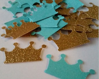 Royal Baby Shower, Royal Crown Confetti, Birthday Crown, Gold Crown, Baby Crown, Princess Crown, Baby Girl Crown, Prince Crown, Baby Boy