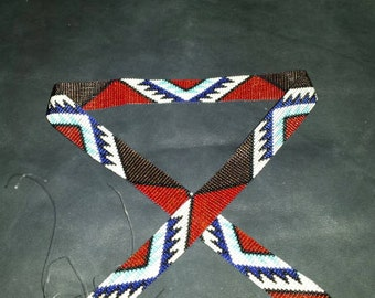 Red/Brown/Turquoise  hatband patterns