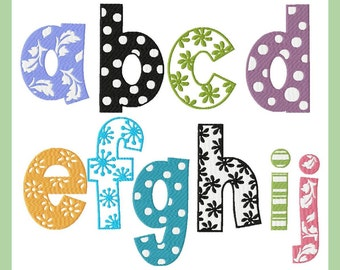 Floral-Dot,flower,striped letters 3,4 and 6 inch