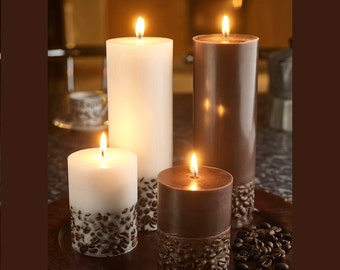 Coffee Candles - Pillar Candles - Scented Candles