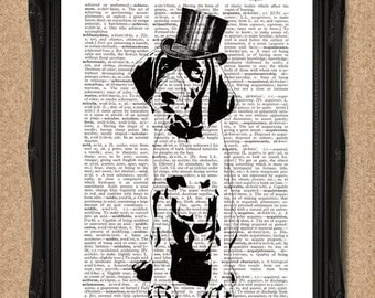 Pointer Dog Dictionary Print for Dog Lovers Dog Wall Decor A005D